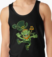 Irish Leprechaun Dancing and Singing Tank Top