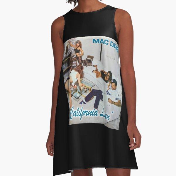 Mac Dre Fan Art Mac Dre California Livin' Mac Dre Thizz The mac named Dre Mac Mother Fucking Dre Hyphy Merch & Gear A-Line Dress