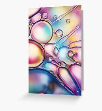 Rainbow Bubble Splash Greeting Card