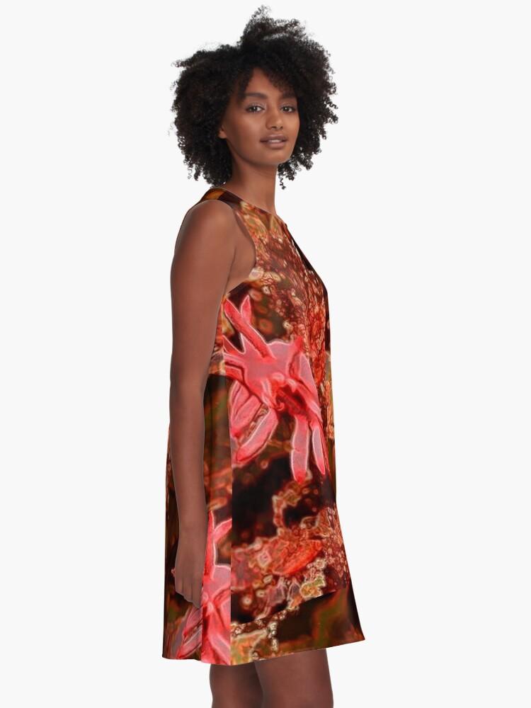 Alternate view of SEA OCEAN LIFE ANEMONE A-Line Dress