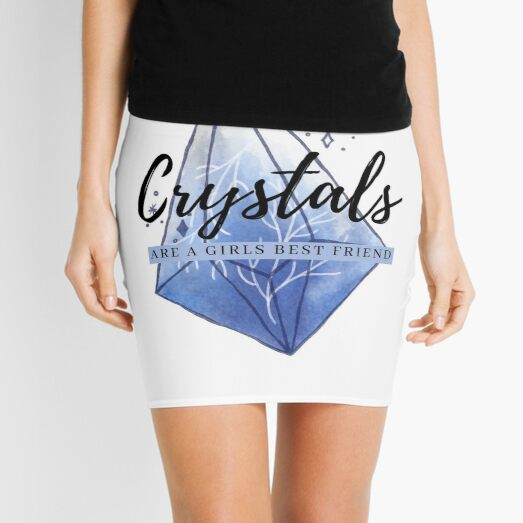 Crystals Are A Girls Best Friend Mini Skirt