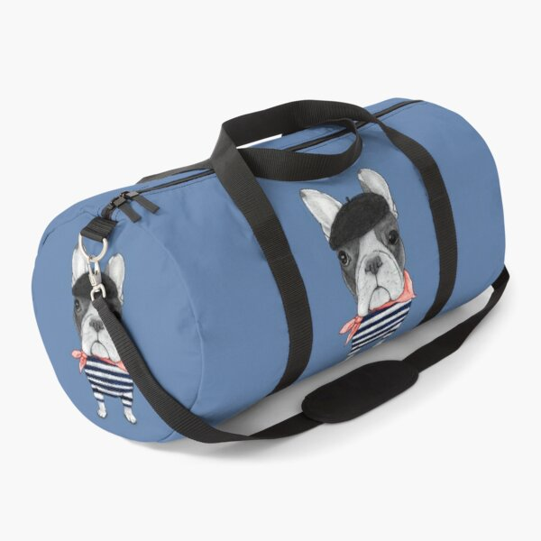 Frenchie With Arc de Triomphe Duffle Bag