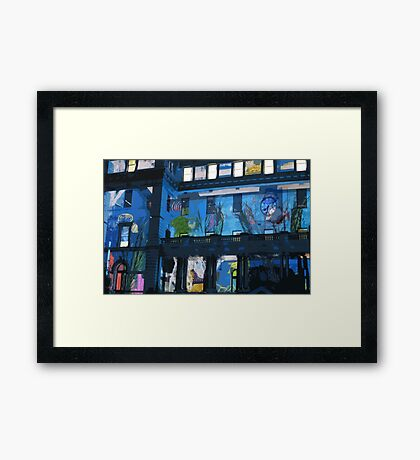 Fish in the Clocktower Framed Print
