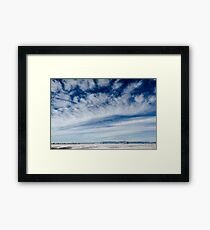 Colorado Clouds and Deep Blue Framed Print
