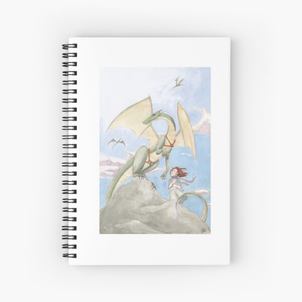 Young Dragon Rider Spiral Notebook