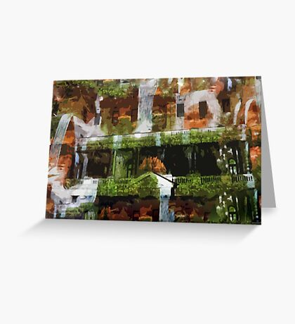 Waterfalls in the Clocktower Greeting Card