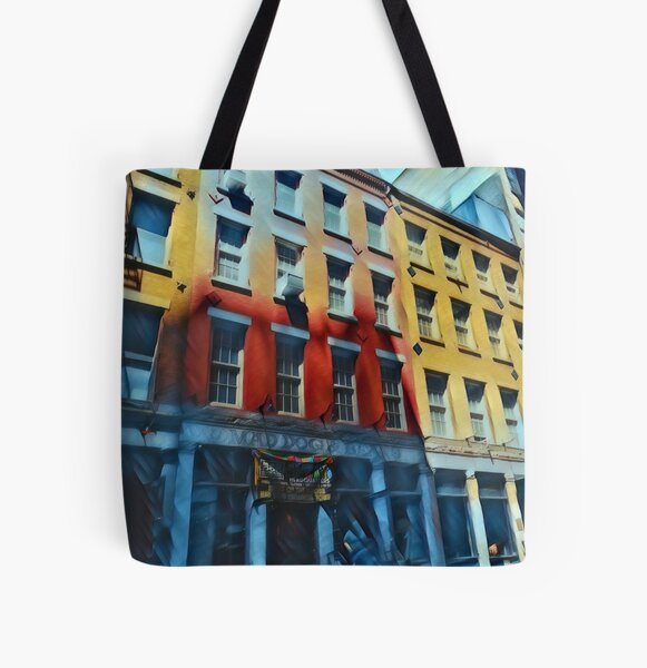 Downtown NYC All Over Print Tote Bag