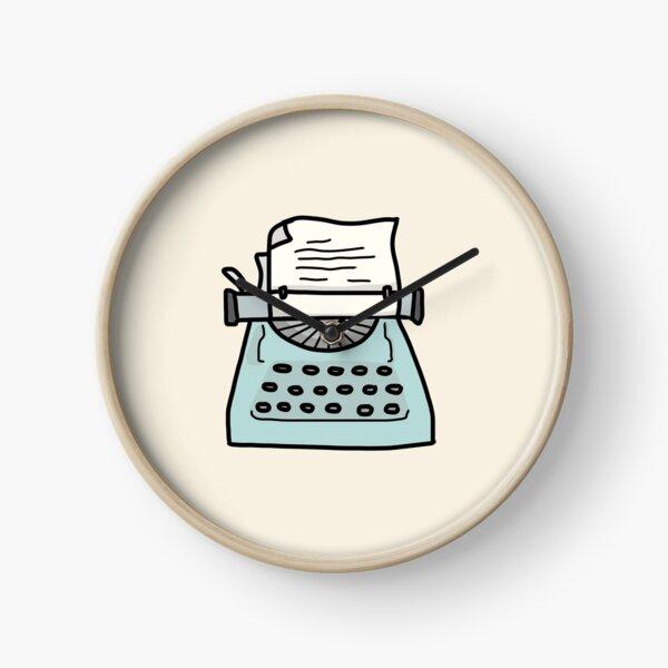 Máquina de escribir antigua turquesa Reloj