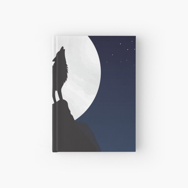 Wolf, moon. Hardcover Journal