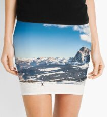 Italian Dolomiti ready for ski season Mini Skirt