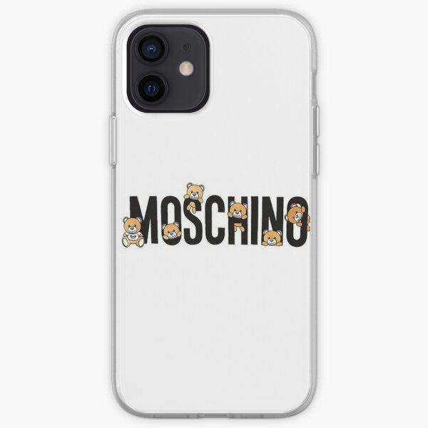 cute teddy bear moschino iPhone Soft Case