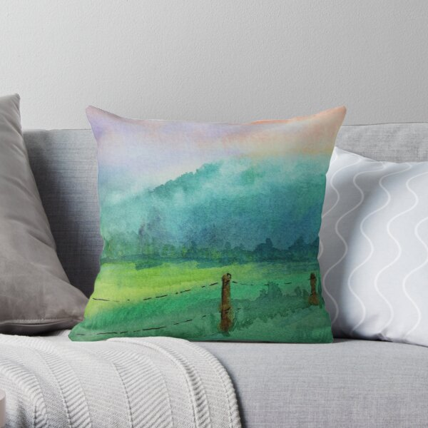 Appalachian Valley: Cades Cove TN Throw Pillow