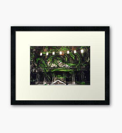 Vines in the Clocktower Framed Print