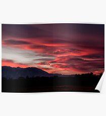 Lenticular Sunset Poster