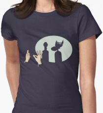 Mystery Silhouette Theater 3000 Womens Fitted T-Shirt
