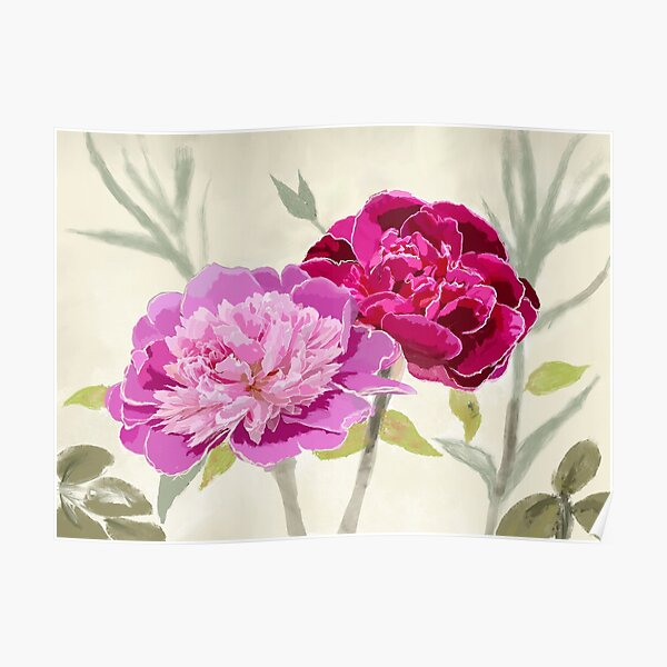 Peonies for Love Poster