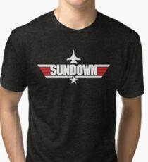 Custom Top Gun Style - Sundown Tri-blend T-Shirt