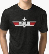 Custom Top Gun Style - Merlin Tri-blend T-Shirt