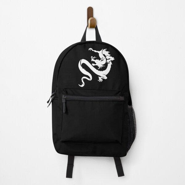 DRAGON. WHITE on BLACK. Backpack