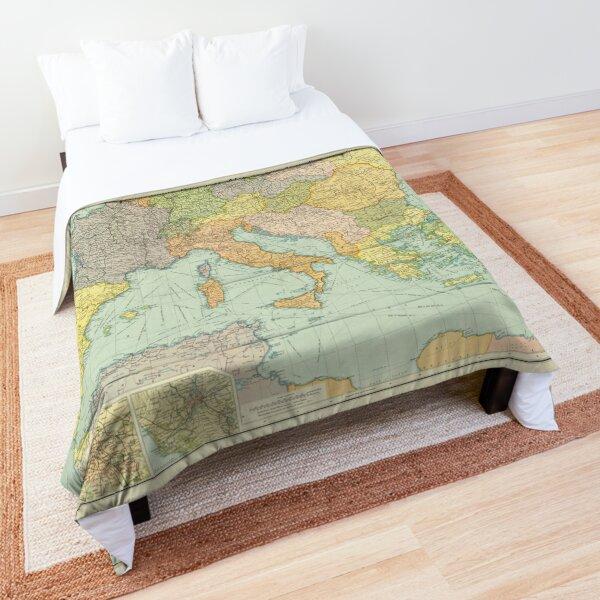 Vintage Europe Map (1920) Comforter