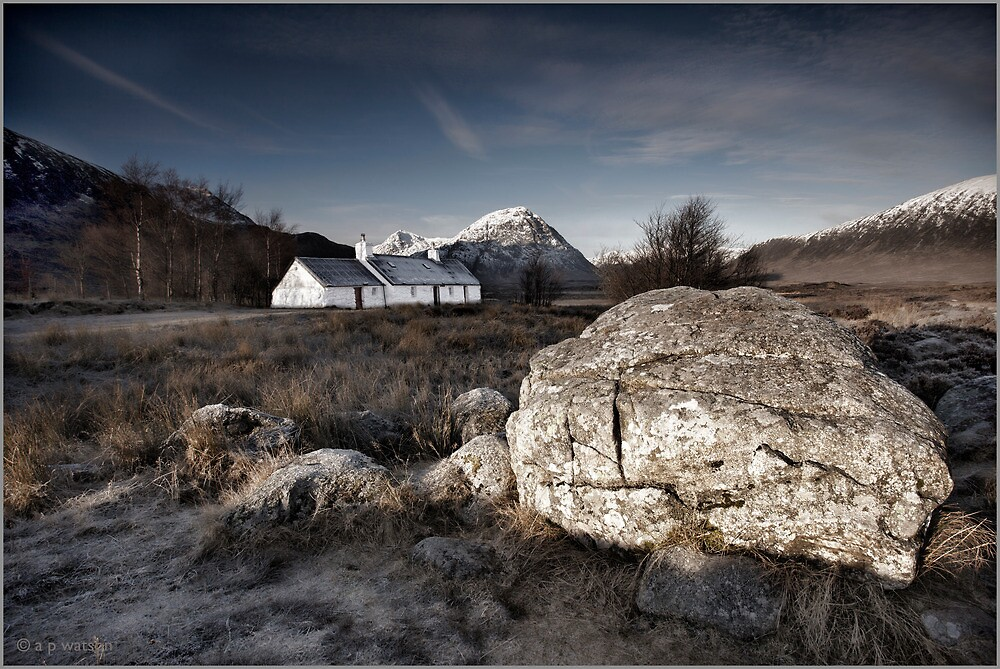 Blackrock Cottage, Glencoe by Andrew Watson