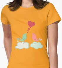 Love bird couple  Womens Fitted T-Shirt