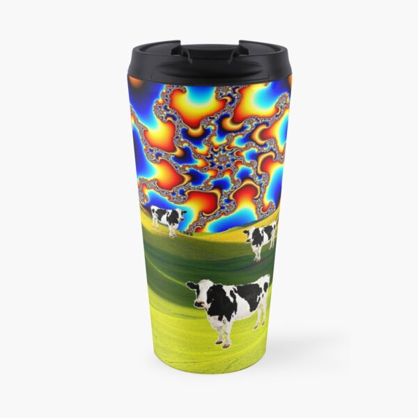 Fractal Sky Cows ! Travel Mug