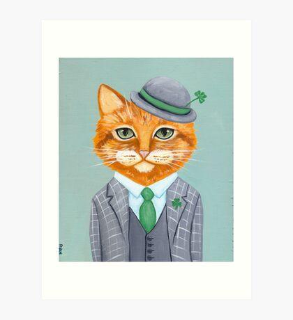 Tiarnan the Tabby Cat Art Print