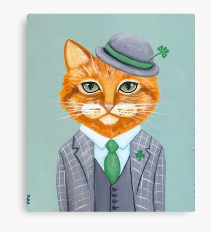 Tiarnan the Tabby Cat Canvas Print