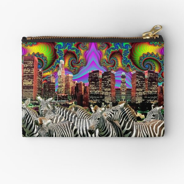 Fractal Sky Zebra City ! Zipper Pouch