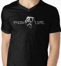 Fresh Life white Mens V-Neck T-Shirt