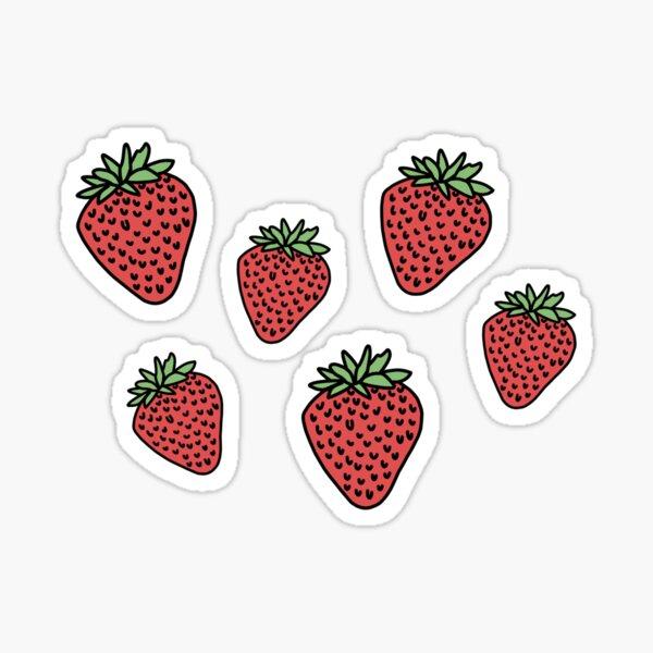 strawberry days Sticker