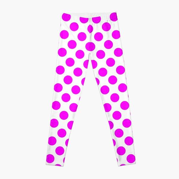Magenta Dot Design Leggings