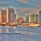 Sunset in San Diego by Rozalia Toth