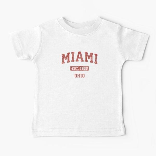 Miami Ohio OH Vintage Athletic Sports Design Sweat Baby T-Shirt