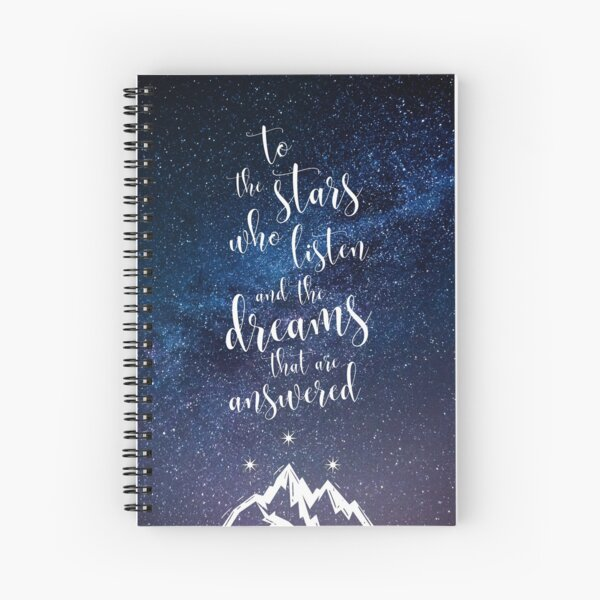 A Court of Mist & Fury Quote Spiral Notebook