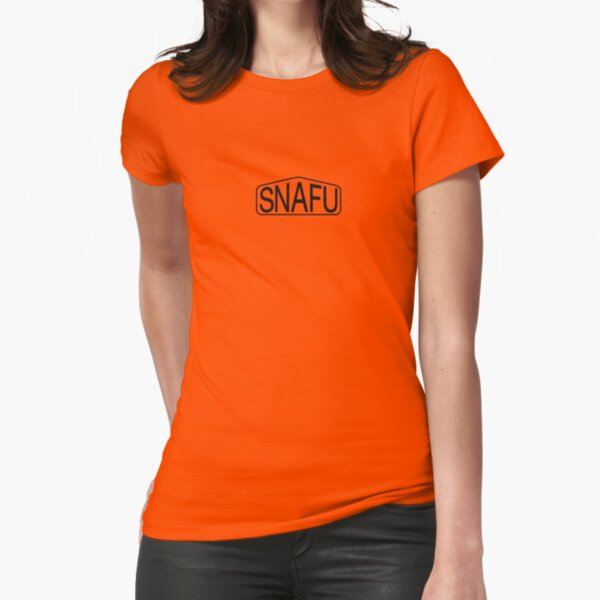 SNAFU Logo Fitted T-Shirt
