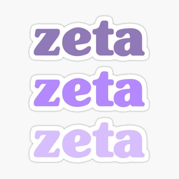 Augustana College Zeta Phi Kappa Purple Sticker
