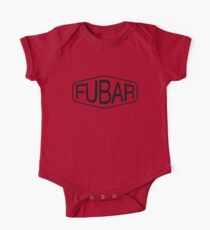 FUBAR logo - black contrast version One Piece - Short Sleeve