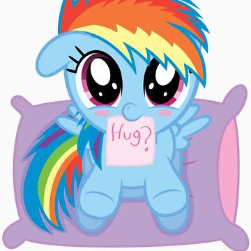 Rainbow Dash Filly - Hug? by DarthAjFox