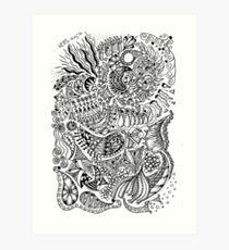 Diary doodle Art Print