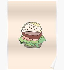 Retro Abstract Burger Poster