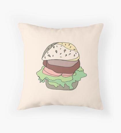 Retro Abstract Burger Throw Pillow