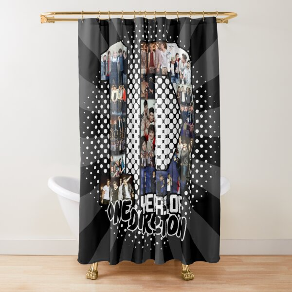 10 Years of 1 D Shower Curtain