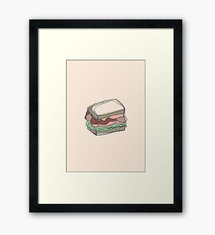 Retro Abstract Sandwich Framed Print