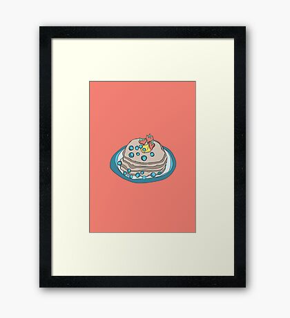 Retro Abstract Pancakes Framed Print