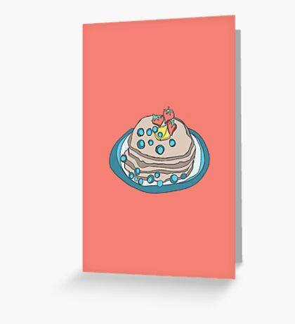 Retro Abstract Pancakes Greeting Card