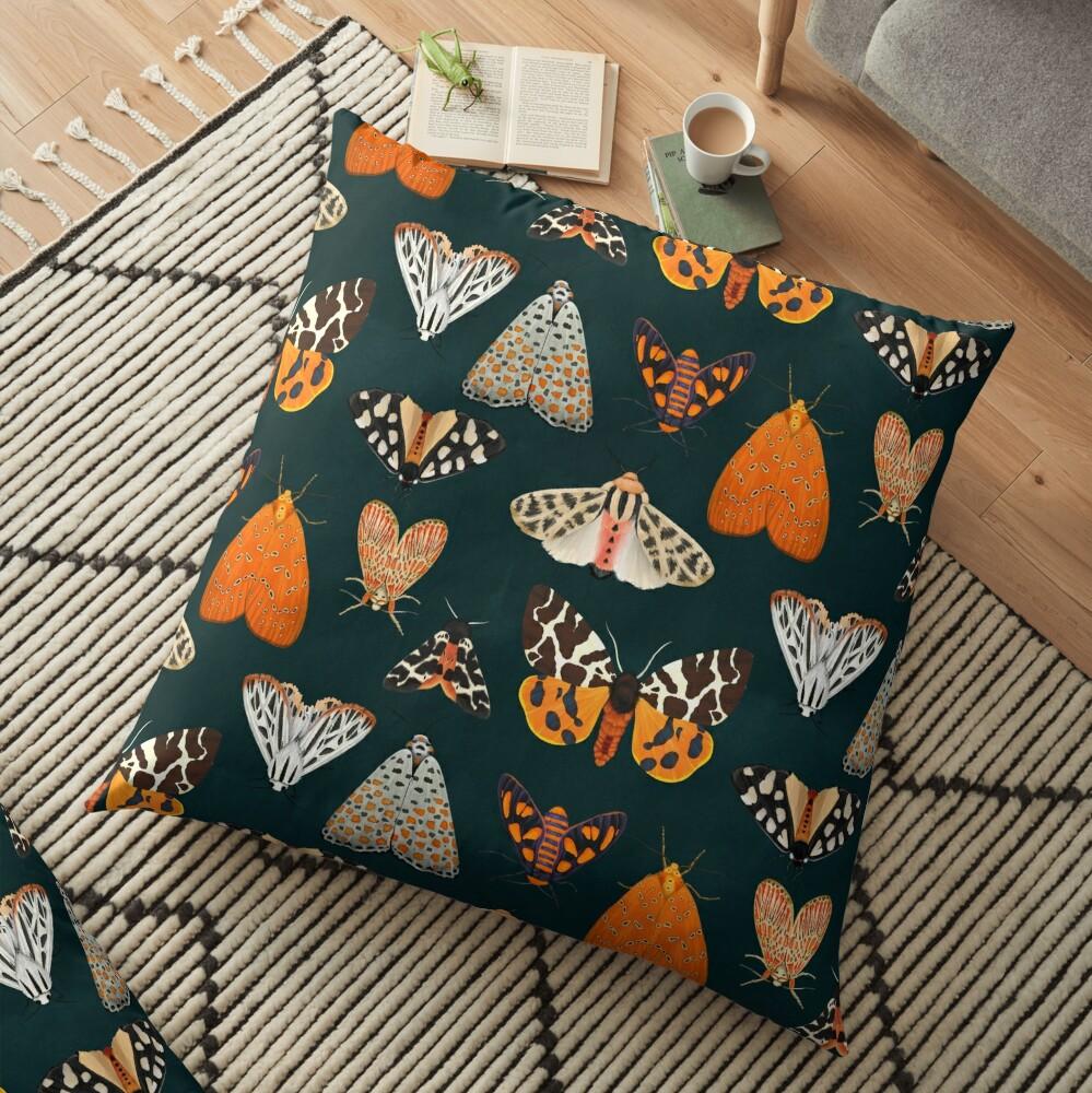 tiger moths Floor Pillow