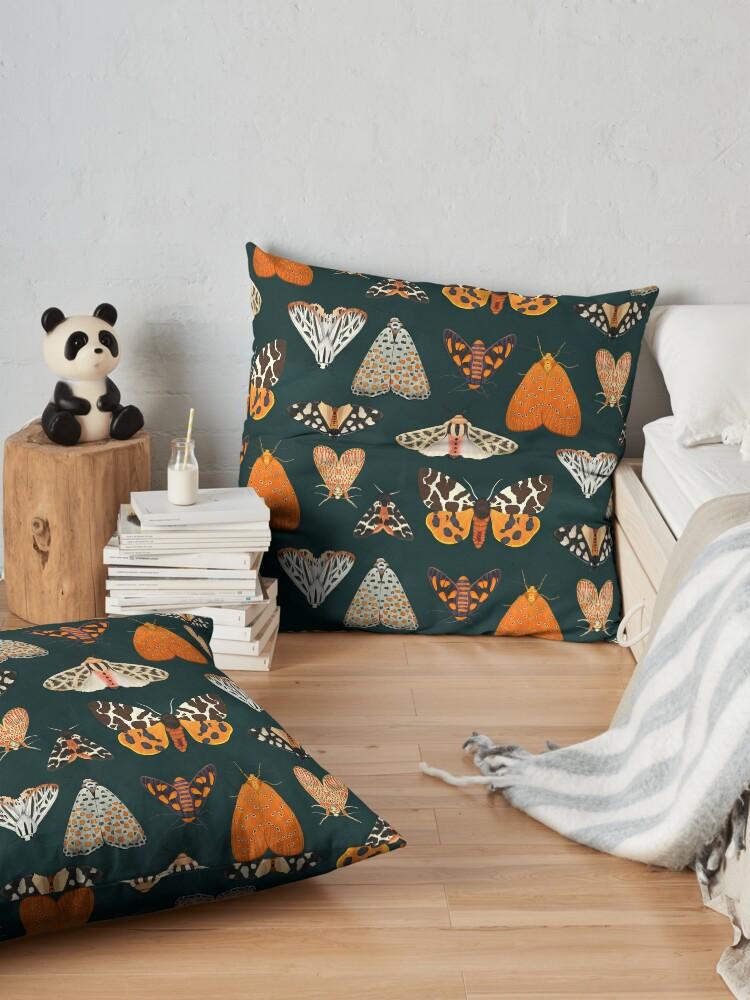Alternate view of tiger moths Floor Pillow