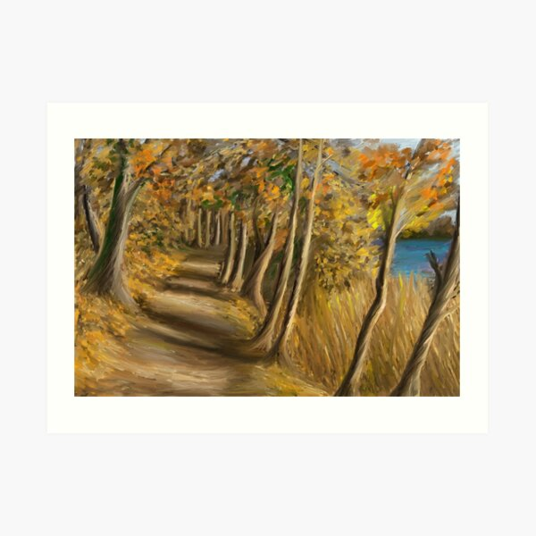 Walk through the woods in Sweden Art Print